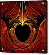 Fractal - Heart - Victorian Love Acrylic Print
