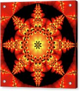 Fractal In The Centre Acrylic Print