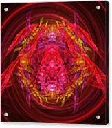 Fractal - Insect - Jeweled Scarab Acrylic Print