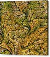 Fractal Leaf Mat-- 2 Acrylic Print