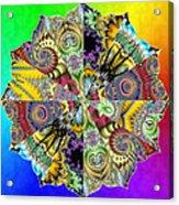 Fractal Lotus Zodiac Acrylic Print