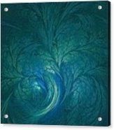 Fractal Marine Blue Acrylic Print