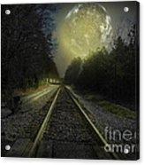 Fractal Moon Acrylic Print