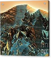 Fractal Moutain Acrylic Print