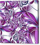 Fractal Pink Plant Acrylic Print