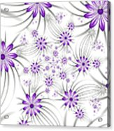 Fractal Purple Flowers Acrylic Print