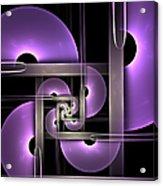 Fractal Purple Semicircles Acrylic Print