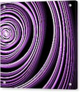 Fractal Purple Swirl Acrylic Print