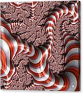 Fractal Red And White Acrylic Print