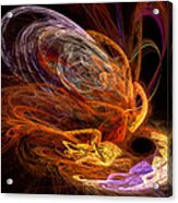 Fractal - Rise Of The Phoenix Acrylic Print