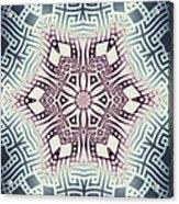 Fractal Snowflake Pattern 1 Acrylic Print