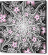 Fractal Soft Flowers Acrylic Print