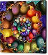 Fractal Textured Spiral Acrylic Print