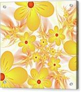 Fractal Yellow Flowers Acrylic Print