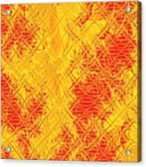 Fractalia For Red And Yellow Colors V Acrylic Print