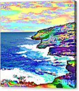 Fractalona Coast Acrylic Print
