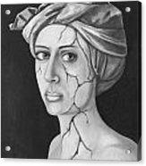 Fractured Identity Bw Acrylic Print
