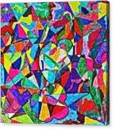 Fractured Kaleidoscope Acrylic Print