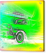 In Your Future I Can See Fragments Of An Old Car Called Bel Air  Acrylic Print