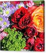 Fragrant Bouquet Acrylic Print by Paulette Maffucci