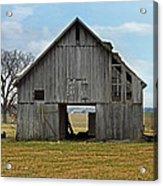 Framed Barn Acrylic Print by Steven  Michael