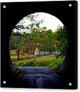 Framed By A Tunnel Acrylic Print