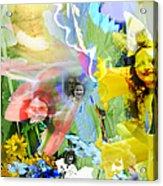 Framed In Flowers Acrylic Print