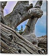 Framed Lighthouse Acrylic Print by Robert Bales