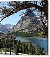 Framed Peaks Acrylic Print by Carolyn Ardolino
