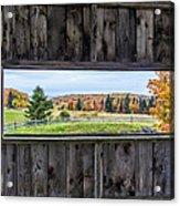 Framed-autumn In Vermont Acrylic Print