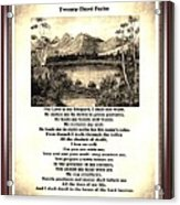 Framed Vintage 23rd Psalm Sepia Acrylic Print
