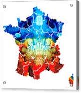 France - European Map By Sharon Cummings Acrylic Print
