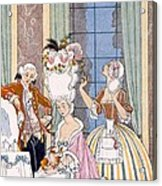 France In The 18th Century Acrylic Print by Georges Barbier