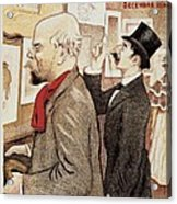 France Paris Poster Of Paul Verlaine And Jean Moreas Acrylic Print