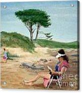 Frances At The Beach Acrylic Print