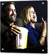 Frances Mcdormand And George Clooney @ Burn After Reading Acrylic Print