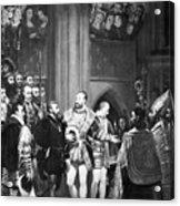 Francis I & Charles V Acrylic Print