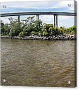 Francis Scott Key Bridge - Pano Acrylic Print