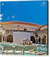 Franciscian Monastery In Hvar Panorama Acrylic Print