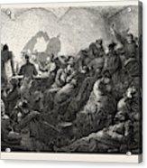 Franco-prussian War Prussians In Metz Acrylic Print