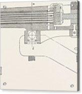 Franco-prussian War The Gun, Perpendicular Section Acrylic Print