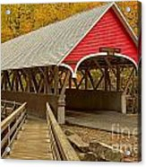 Franconia Notch Flume Gorge Bridge Acrylic Print