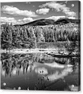 Franconia Ridge Reflection B And W Acrylic Print