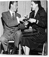 Frank Sinatra Signs For Fan Acrylic Print