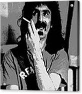 Frank Zappa - Chalk And Charcoal Acrylic Print by Joann Vitali