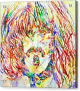 Frank Zappa Watercolor Portrait.1 Acrylic Print