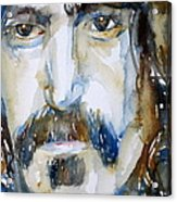 Frank Zappa Watercolor Portrait.2 Acrylic Print