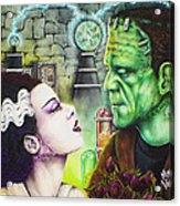 Frankenstein And The Bride Acrylic Print