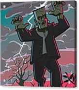 Frankenstein Creature In Storm  Acrylic Print