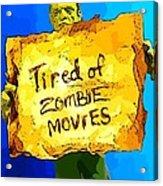 Frankenstein's Monster Turns Activist Acrylic Print by John Malone